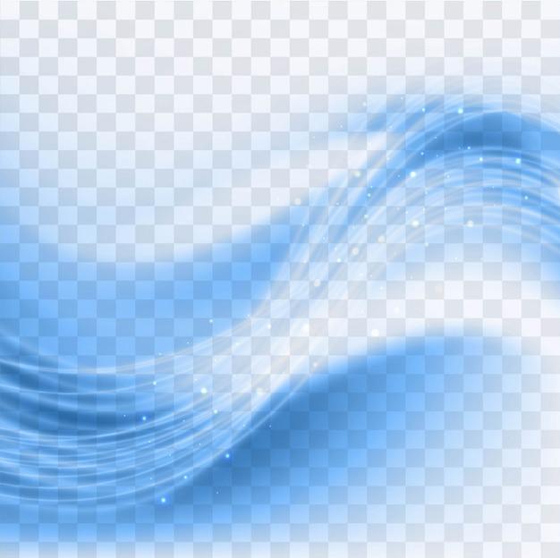 ブルー波状の背景