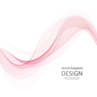 現代のピンクの波の背景