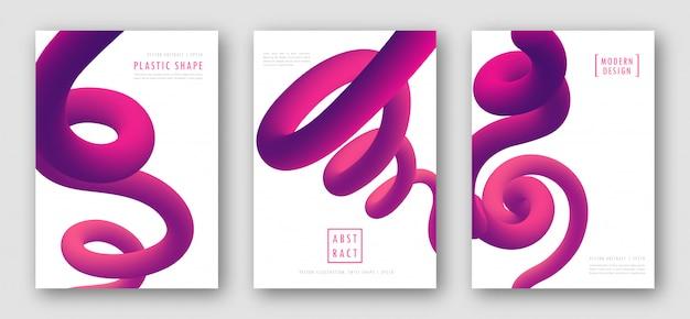 グラデーションの抽象化とポスター
