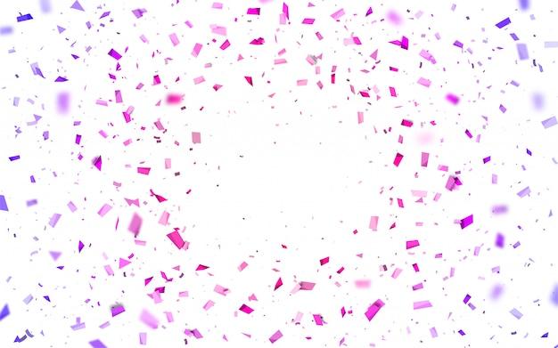 ピンクと紫の紙吹雪
