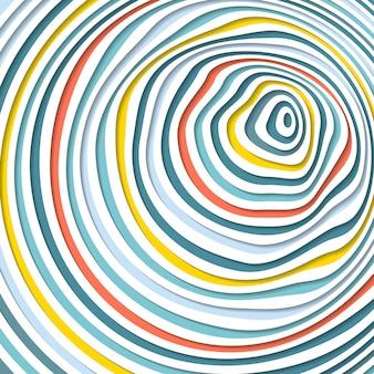 抽象的な錯視。湾曲したスパイラル背景