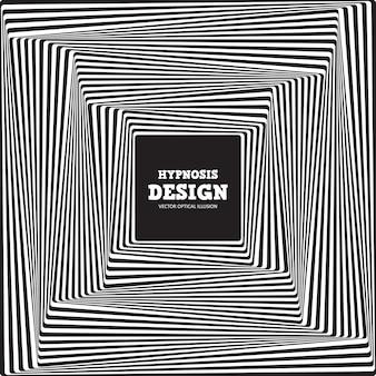 抽象的な錯視。ツイストブラックホワイトストライプバックグラウンド