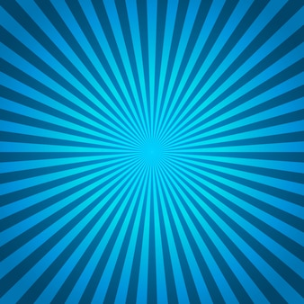コミックスタイルの放射状の線の青色の背景色