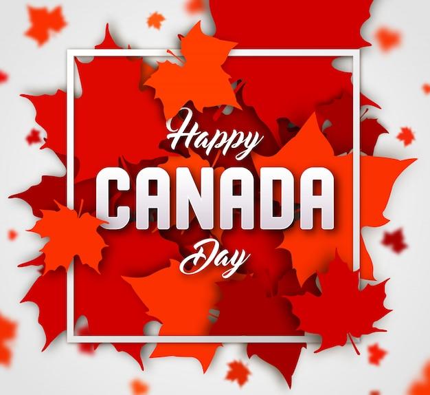 幸せなカナダの日。赤いカエデの葉