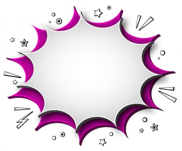 Красочный комический речевой пузырь со звуковыми эффектами.