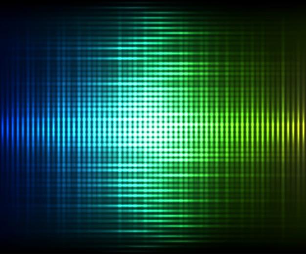 カラフルなデジタルシャイニングイコライザー。抽象的なベクトルカラフルな輝く背景