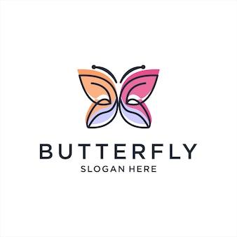 美しい蝶のロゴ