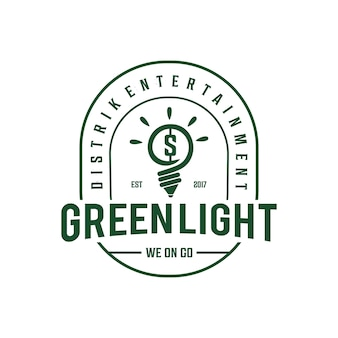 Лампа старинный логотип