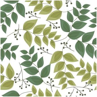 葉のシームレスパターン