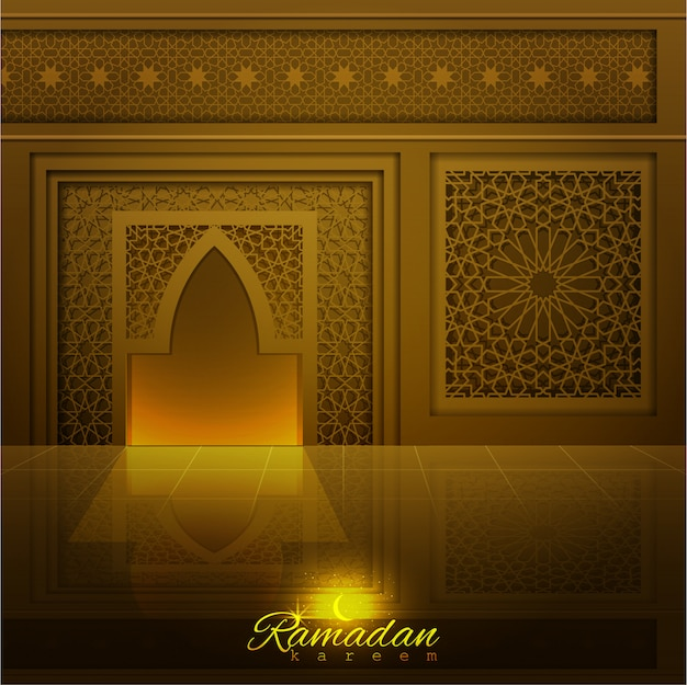ラマダンカリームモスクのドアと窓