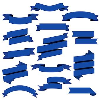 Набор синих веб-лент
