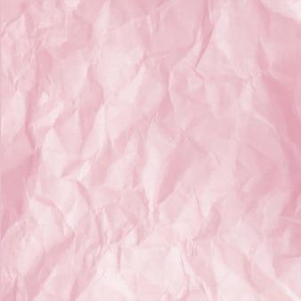 しわくちゃのピンクの紙