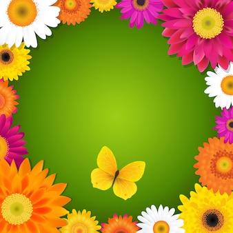 Цветок и бабочка