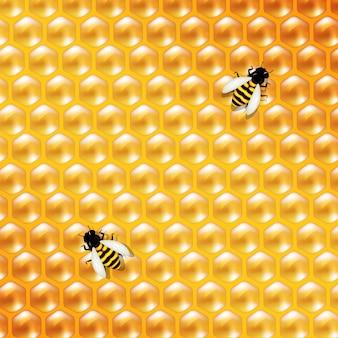 蜂蜜の背景と蜂