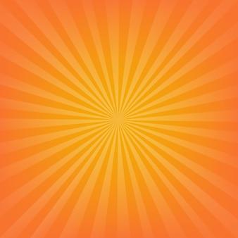 オレンジ色のサンバーストの背景