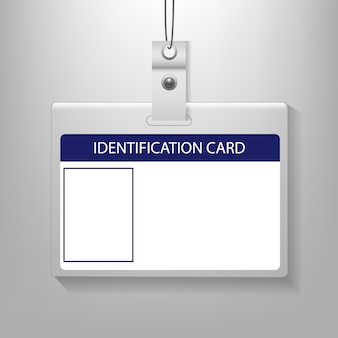 身分証明書分離された灰色の背景