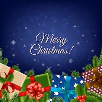 クリスマスレトロカード