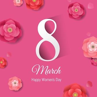 Женский день розовое знамя