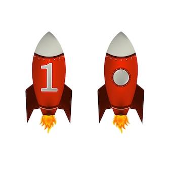 赤いロケットの分離