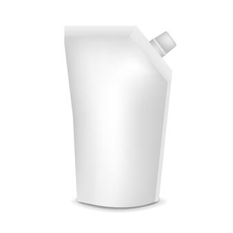 透明な背景を持つプラスチック製のポーチ