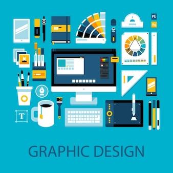 グラフィックデザイン要素のコレクション