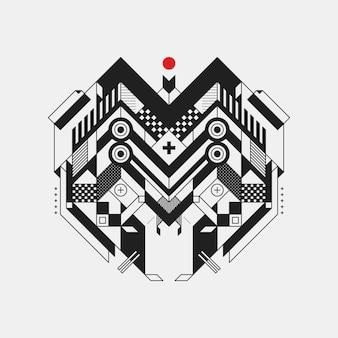 Абстрактный геометрический элемент дизайна на белом фоне. футуристический дизайн, геометрические формы.