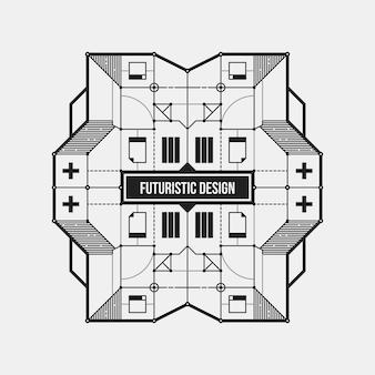 抽象的な未来的なデザイン要素のテンプレート