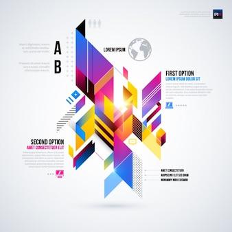 未来的なスタイルを持つ幾何学的なインフォグラフィック
