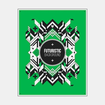Плакат / печать шаблон дизайна с симметричным абстрактным элементом на красочный фон.