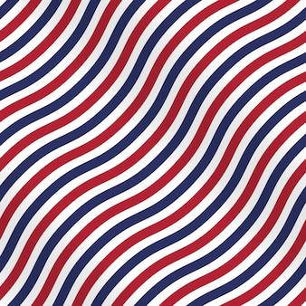 白い背景に縞模様の愛国的なアメリカのパターン