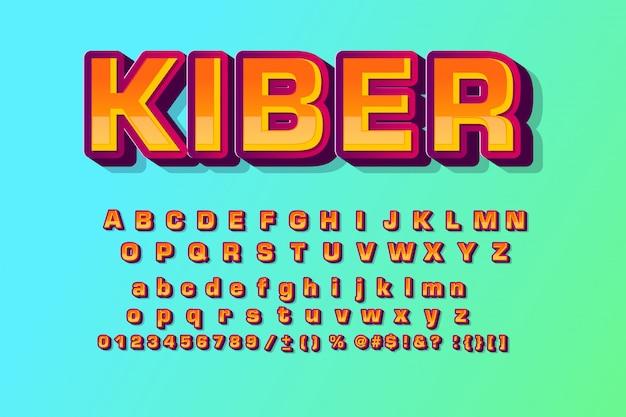 Детский шрифт в мультяшном стиле