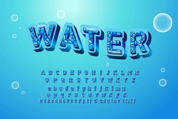 水彩水しぶきでアルファベットのロゴ。