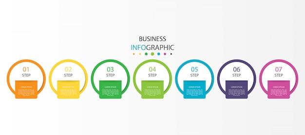 手順またはオプションのビジネスインフォグラフィック