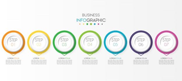 オプションまたは手順を持つビジネスインフォグラフィック