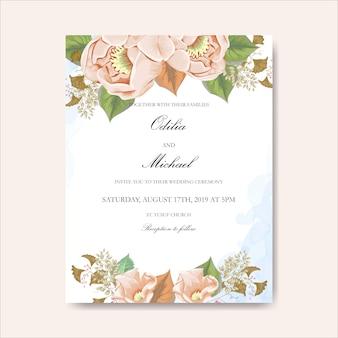 結婚式のカードのかわいい花