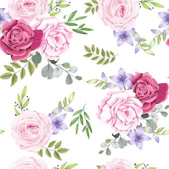 美しい花とのシームレスなパターン