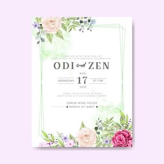Свадебные приглашения с красивым цветочным
