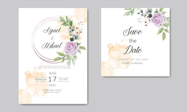 Свадебные приглашения с элегантным и красивым цветочным