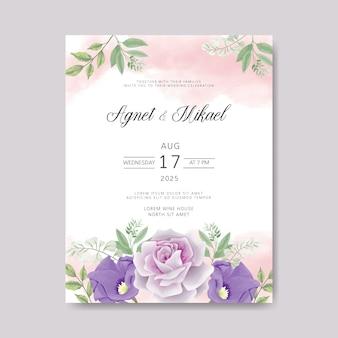 Свадебное приглашение с красивой и цветочной зеленью
