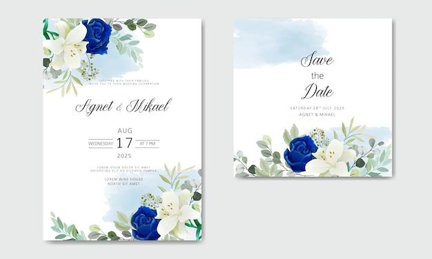Свадебное приглашение с красивыми цветочными темами