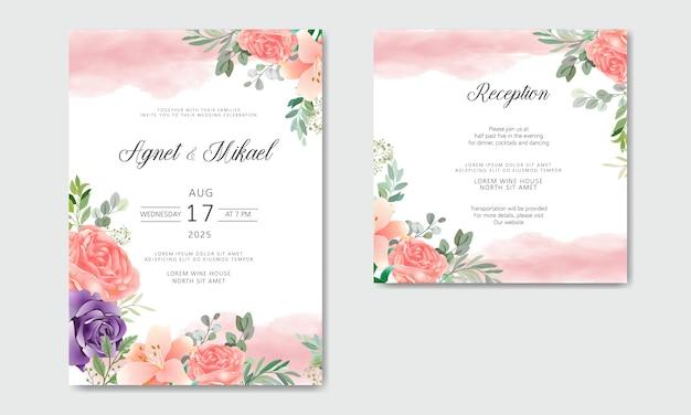 Свадебные приглашения с красивыми и романтичными цветами