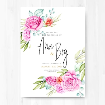 Акварель цветочные и листья свадьбу