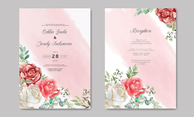 Свадебные приглашения с роскошью и красотой цветов