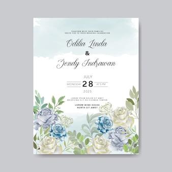 Свадебные приглашения с красивыми цветами