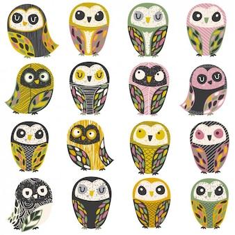 フクロウのコレクション