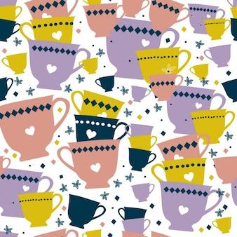 Красочные чашки рисунок