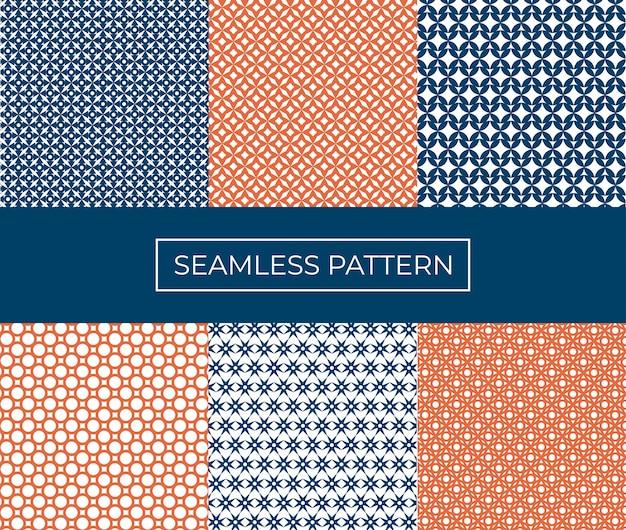 シームレスな抽象的なパターンのセット