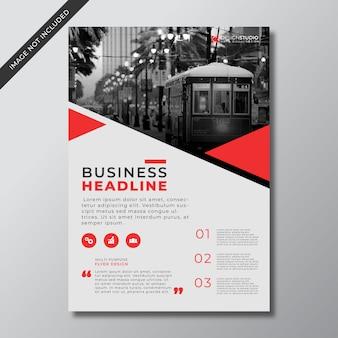 現代の赤いビジネスチラシ