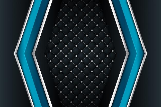 暗い空白スペースの背景に青い銀の矢印の方向