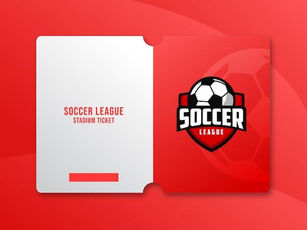 サッカーの試合のためのチケットテンプレートデザイン